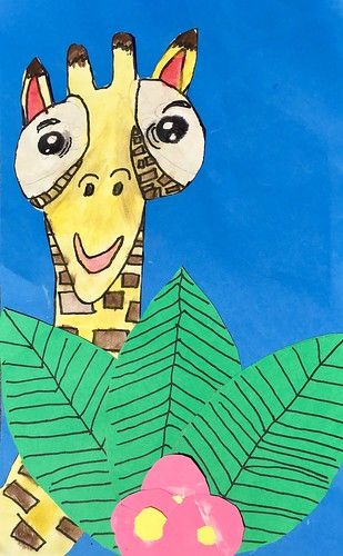 """1st grade African Giraffe Paintings #giraffe #drawing #painting #art #collage #1st #1stgrade #arteducation • <a style=""""font-size:0.8em;"""" href=""""http://www.flickr.com/photos/57802765@N07/30025313748/"""" target=""""_blank"""">View on Flickr</a>"""
