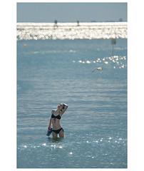 _PXK4482 (Concert Photography and more) Tags: 2018 july italy gorizia grado sea beach beachlife summer bathing girl people water reflexion sunset magic olympus tamron 350mm tamron350mmf56 mirrorlens liveactionhero ocean bird sky