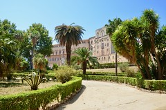 Palazzo Reale (ChiaraBer) Tags: palermo cappella palatina palazzo reale dei normanni royal palace sicily sicilia italia italy italian city cityscape cattedrale cathedral church mosaico art architecture design decorazione decoration palm tree garden summer europe south traveling traveler girls friends sightseeing region iphone photography fun amazing beautiful green artistic centre cultural culture