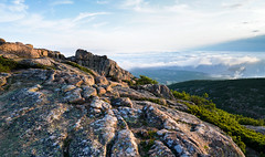 Cadillac Mountain Summit - Acadia National Park - Maine (Bernie Duhamel) Tags: cadillacmountain summit acadianationalpark clouds sunrise mountains mountain barharbor desertisland barharborisland maine bernie duhamel atlanticocean bay sea ocean sonya7riii sony2470mm greatphotographers teamsony