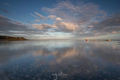 Templetown beach (Pastel Frames Photography) Tags: ireland templetown beach boat sunset clouds irishsea refelctions canon5dmark3 canon1635mm leefilters longexposure