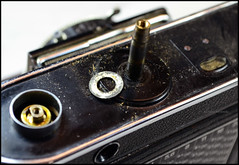 Certo Dollina II Repair Notes (21) (Hans Kerensky) Tags: certo dollina ii rangefinder folder repair removed focus axle small ring