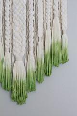 Dip-dyed Green Woven Plaits Wall Hanging (srivard72) Tags: macrame woven weaving braids plaits dipdye green wallhanging wallart etsy forsale fiberart art chicago