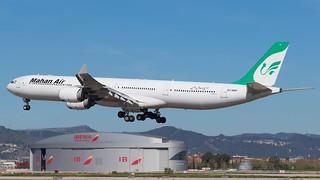 BCN - Mahan Air Airbus 340-600 EP-MMF