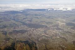 // en Berne (Riex) Tags: fromtheair aerialphotography photographieaerienne birdseyeview vuedavion urban urbain town ville aare river riviere coursdeau berne bern suisse switzerland g9x
