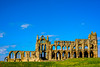 Dracula's fave holiday spot (grahamrobb888) Tags: yorkshire d800 nikon nikkor 50mmf18 whitby abbey church whitbyabbey bramstoker dracula sunny blue ruin sky hilltop