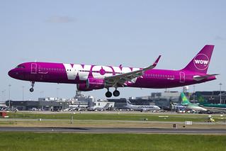 TF-CAT | WOW Air | Airbus A321-211(WL) | CN 8104 | Built 2018 | DUB/EIDW 16/05/2018