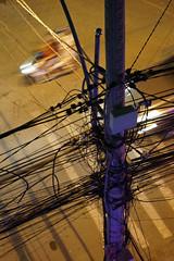 DSC00950 (moweha) Tags: vietnam cables electricity scooter night light shadow urban city da nang