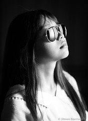alice in vintage ray-bans (steve: they can't all be zingers!!! (primus)) Tags: sonya7r canonfd135f25 canon primelens prime primecanonlens telephoto monochrome bw blackwhite taiwan