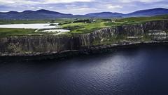 Kilt Rock (David C Laurie) Tags: skye dji djiphantom scotland kiltrock landscape ariel cliff sea water panorama