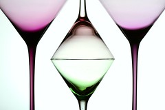 Glasses (Karen_Chappell) Tags: glass pastel white purple green four 4 stilllife martini triangle shapes shape geometry abstract geometric