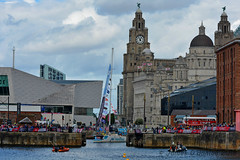 Nasdaq enters the Royal Albert Dock (James O'Hanlon) Tags: clipperrace clipper race round world yacht roundtheworldyachtrace 2018 river mersey rivermersey liverpool uk canning dock albert royal albertdock canningdock sailing sail presentation confetti fireworks garmin daretolead dare lead great britain greatbritain hotelplannercom hotel planner liverpool2018 nasdaq psp logistics psplogistics qingdao sanyaserenitycoast sanya serenity coast unicef visitseattle visit seattle yachts vessel