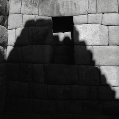 Niche with Shadow, Machu Picchu (austin granger) Tags: machupicchu niche shadow blocks stones inca stonework archaeology architecture time remains geometry civilization evidence ruins incatrail square film gf670