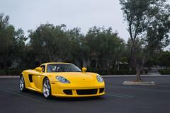 Yellow Porsche Carrera GT (Axion23) Tags: yellow porsche carrera gt newport coast california