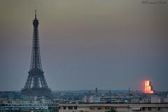 Sunset time (bertrand kulik) Tags: toureiffel palaisdejustice lacitédelajustice paris france snset sky ciel summer reflet