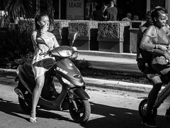 Keeping a Careful Eye (Urban Footfall - Street Photography) Tags: streetphotography attractive blackandwhitephotography woman bw city people miami candid monochrome peoplephotography urban