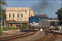 AMTK 160 (Justin Hardecopf) Tags: amtk amtrak 160 ge p42 6 californiazephyr burlington depot station omaha nebraska railroad train