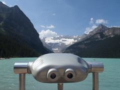 Lake Louise (Mr. Happy Face - Peace :)) Tags: flickrfriday yyc fairmount lakelouise canadaparks cans2s summer rockies art2018 sky clouds flickrfriends outdoors scenery albertabound banffparkway metallic