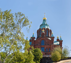 Finland. Helsinki. Uspenski Cathedral (v_mats) Tags: 2470 canonef2470mmf28liiusm canoneos5dmarkiii canon uspenskicathedral helsinki finland cathedral sky tree building architecture