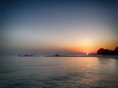 Island Life 17 (23 Skiddoo) Tags: seascape landscape sunset reflection jetty sky sea