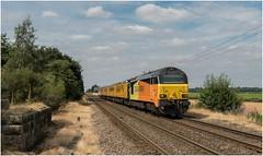 67023. Rushey Sidings. (Alan Burkwood) Tags: colas 67023 derbynevillehill test train networkrail diesel locomotive rusheysidings