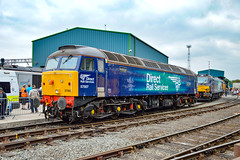 57007 - Crewe Open Day DRS 2018 - 21/07/18. (TRphotography04) Tags: direct rail services drs 57007 stands crewe open day 2018 prior being named john scott 12545 22512 which came off ex 47805