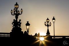 Pont Alexandre III (Julien CHARLES photography) Tags: alexandre3 alexandreiii europe france paris pontalexandreiii bridge lamp lampadaire lamppost pont sunset sunsetlight sunsettime