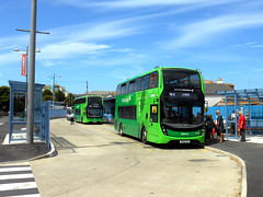 Newquay Bus Station July 2018 (miledorcha) Tags: newquay bus station cornwall kernow atlantic coast first group south west england wk18cge 33308 wk18cgz 33316 adl alexander dennis ltd enviro 400 mmc double decker buses summer 2018 refurb psv pcv holidays travel tourist