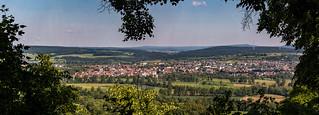 Blick von der Amöneburg auf meine Heimatstadt Kirchhain