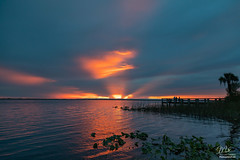Sunset + Crepuscular Rays (Michael Seeley) Tags: canon florida lakewashington lovefl melbourne mikeseeley sunset crepuscularrays