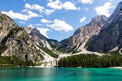 Braies (MilleLuci) Tags: braies lago lake pragser altoadige mountain montagna montagne barca green verde sun sole suedtirol dolomites dolomiti estate nuvole cloud elisadepolo