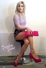 Short Skort (jessicajane9) Tags: tg crossdress trans cd tgurl crossdresser transvestite xdress high heels transgender tgirl feminization