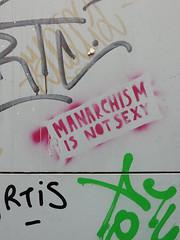 Manarchism is not sexy (aestheticsofcrisis) Tags: street art urban intervention streetart urbanart guerillaart graffiti postgraffiti athens athina attiki greece eu europe monastiraki psirri feminst queer stencil pochoir schablone