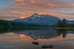 Sunrise@ Two Jack Lake (FollowingNature (Yao Liu)) Tags: mtrundle followingnature banff canada banffnationalpark twojacklake