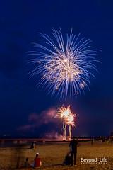 The Fireworks Series (Beyond_Life) Tags: firework fire shot night nightphotography beach sand saint aubin sur mer france boulevard