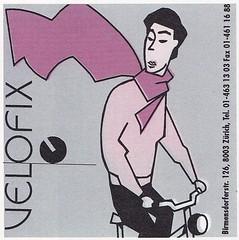 Strapazin / Aufkleber (micky the pixel) Tags: werbung anzeige inserat advertisement aufkleber sticker strapazin magazin grafik kunst art comicart fahrrad velo velofix fahrradwerkstatt zürich