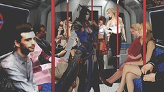Obviously I'm on the Tube with a bunch of commuters, two anime girls, and a rogue. (gwen.enchanted) Tags: maitreya vista 7deadlys{k}ins theannex famefemme illi yummy foxcity yoyo swallow musa lamb cazimi