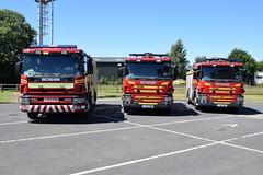 Humberside - YJ54EHW YJ13GMV YJ13GMX - Market Weighton (matthewleggott) Tags: humberside fire rescue service engine appliance scania emergency one market weighton