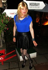 Decision Time (Amber :-)) Tags: black leather skater skirt tgirl transvestite crossdressing