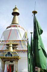 Green Flags at Memorial Chorten (William J H Leonard) Tags: bhutan bhutanese thimphu southasia southasian asia asian himalayas himalayan buddhist buddhism buddhisttemple buddhists buddha travel travelphotography travelling temple memorialchorten