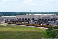 North Platte (Trucks, Buses, & Trains by granitefan713) Tags: northplatte nebraska railyard goldenspiketower baileyyard trainyard up unionpacific locomotive ge generalelectric emd electromotive diesellocomotive ac4400 gevo sd90mac sd60m sd402
