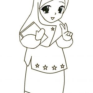 Contoh Gambar Karikatur Muslim Ideku Unik