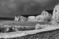 Squally (Jan Gray Photography) Tags: eastsussex birlinggap bnwphotography landscapephotography landscape seascape seascapes blackandwhite coast coastal sussexcoast coastalphotography
