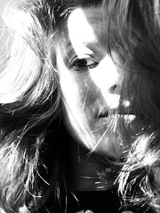 (butterinfly) Tags: sunrays selfportrait blackandwhite eye face light 365days onephotoaday