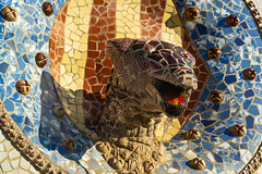 Parc Guell Inlay (fate atc) Tags: antonigaudi barcelona carmelhill catalonia euselaguell parcguell parkguell pavilion spain architecture art building ceramics design entrance garden inlay modernist moldings mosaic
