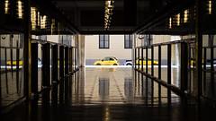 City (Untalented Guy) Tags: milano street city città auto 500 fiat yellow giallo reflection urban vetri riflesso riflessi milan car abarth 6d canon 24105