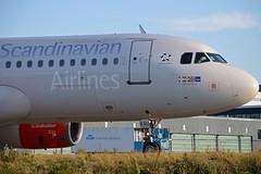 """Hjorvard Viking"" SAS Scandinavian Airline System OY-KAU Airbus A320-232 cn/3227 @ Taxiway Q EHAM / AMS 16-10-2016 (Nabil Molinari Photography) Tags: hjorvardviking sas scandinavian airline system oykau airbus a320232 cn3227 taxiway q eham ams 16102016"
