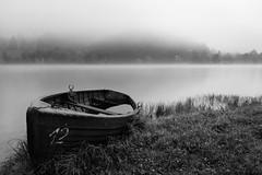 Quiet morning (novak.mato91) Tags: landscape slovenia slovenija ifeelslovenia boat lake blackandwhite bw longexposure fog morning nikon d7200 sigma