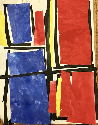 """Every year I get new favorites with this #kindergarten #pietmondrian  inspired painted paper gridded #collage ❤️❤️  They have such an amazing lyricism at this age that I admire so much. Want em all! • <a style=""""font-size:0.8em;"""" href=""""http://www.flickr.com/photos/57802765@N07/43177788144/"""" target=""""_blank"""">View on Flickr</a>"""