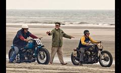 Mel Stultz Sets the Start (Whitney Lake) Tags: explore 11 harleydavidson motorcycles dragrace beach ocean atlantic eastcoast jerseyshore southjersey newjersey wildwoods 2018 theraceofgentlemen trog